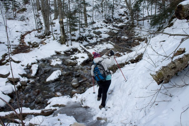 Don't fall in the frozen creek there Amie.
